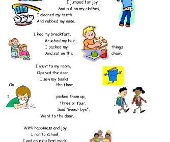 A short reading comprehension about daily routines in the